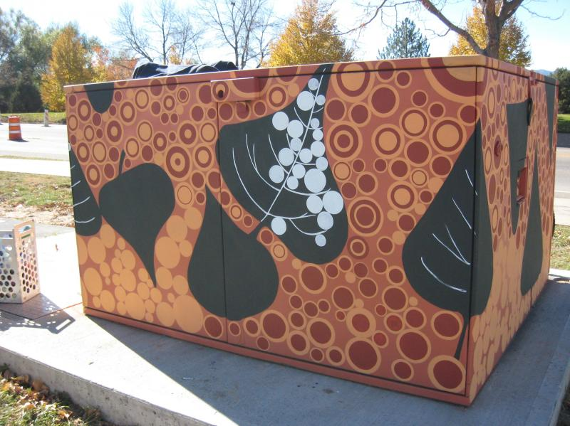 Transformer Cabinet Mural by Amelia Caruso