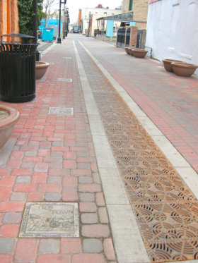Pavers on Street
