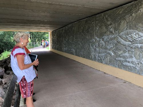 Art Under The Riverside Bridge