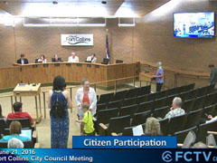 Spotlight image: VIDEO: Fort Collins City Council Meeting 6/21/16