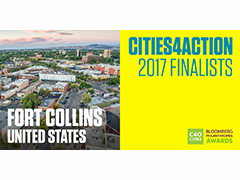 Spotlight image: Fort Collins a finalist for C40 Cities Bloomberg Philanthropies Awards