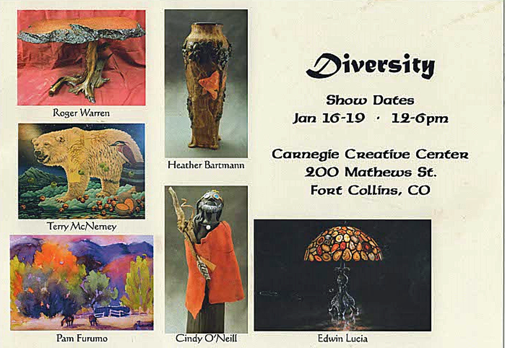 Diversity, January 16-19, in gallery A