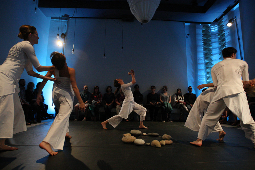 Dance performance at the gallery