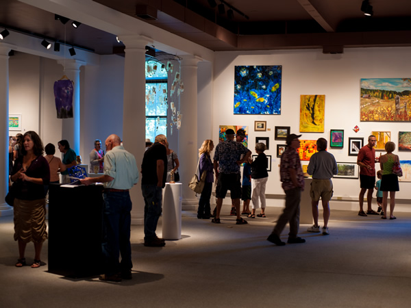 Visitors at a gallery event