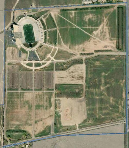 Hughes Stadium site sattelite image