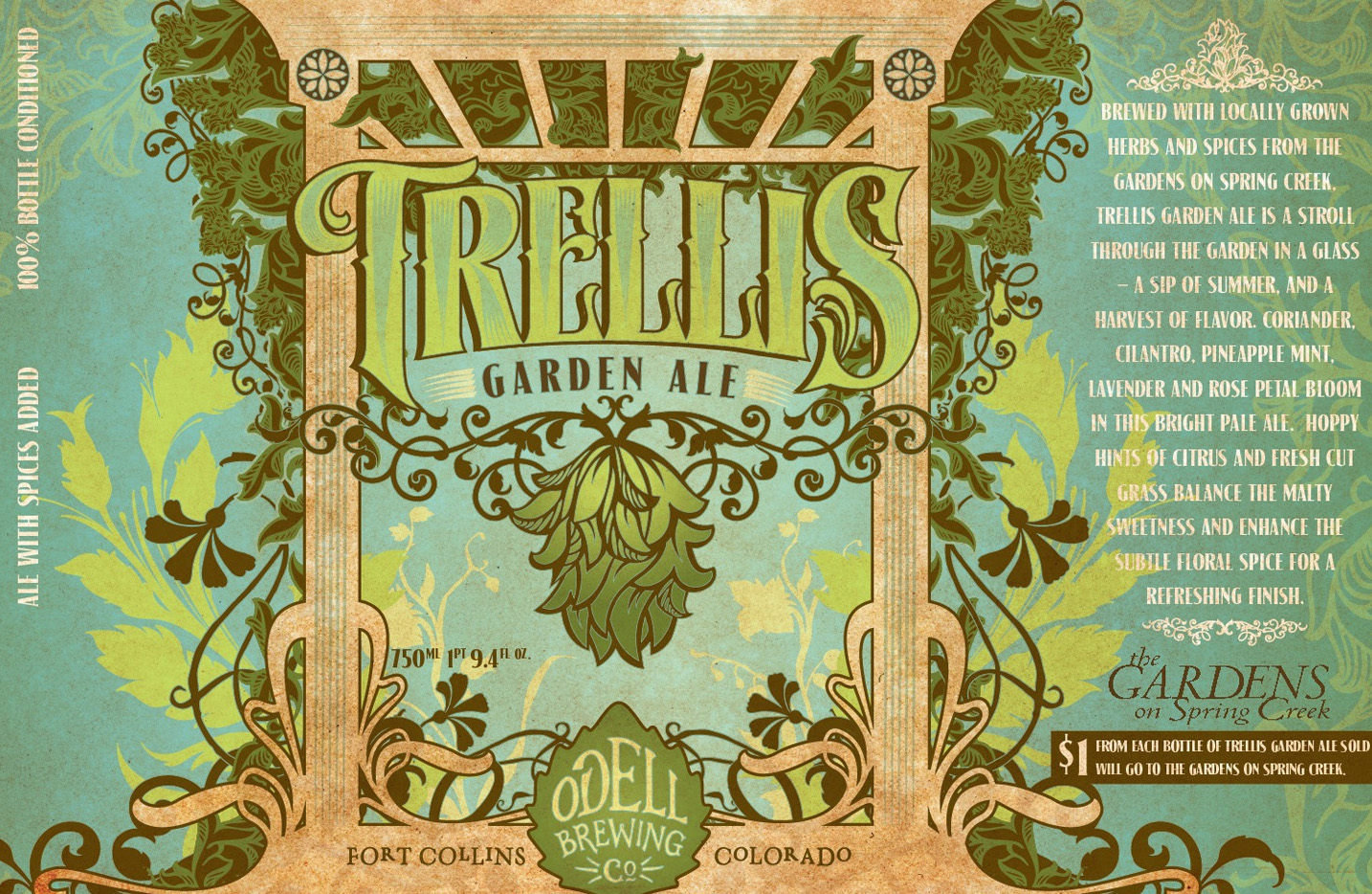 Odell Brewing Introduces Ale Brewed With Herbs From The Gardens On Spring  Creek