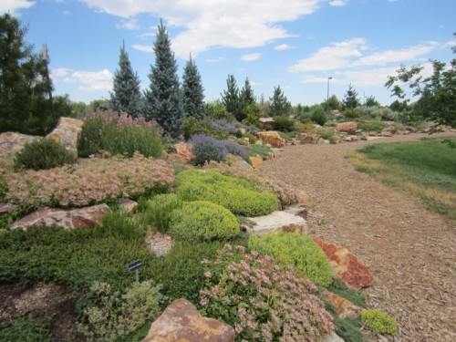 Landscaping with rock in the Rock Garden