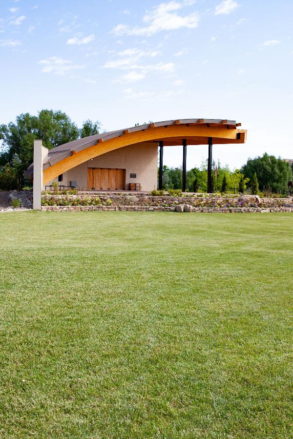 lawn and pavilion