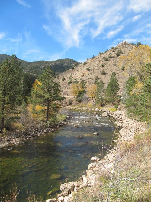 North Fork of the Poudre River at Cherokee Park Road