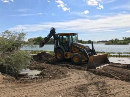 Restoration at Kingfisher Point Natural Area