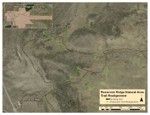 image for press release Trail Reroute Coming to Reservoir Ridge Natural Area