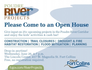 image for press release City Invites Everyone to Poudre River Projects Open House