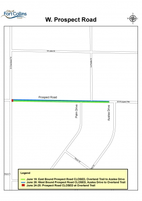 image for press release Prospect Road Construction Closure