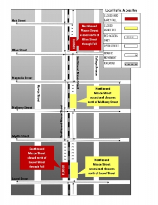 image for press release MAX Construction Alert: New Closures on Downtown Mason Street to begin July 8
