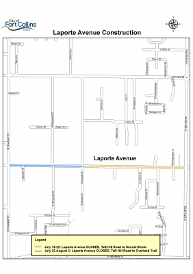image for press release Laporte Avenue Closed Beginning July 15