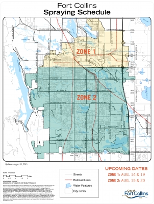 image for press release City of Fort Collins to Spray for Mosquitoes Aug. 14-15 & Aug. 19-20
