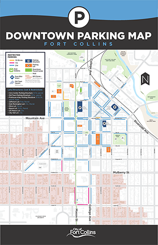Downtown parking map preview