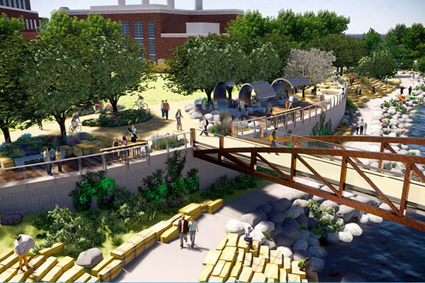 Poudre River Whitewater Park Rendering