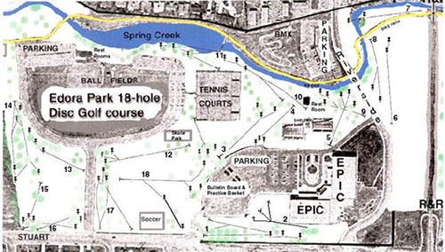 disc golf map City of Fort Collins