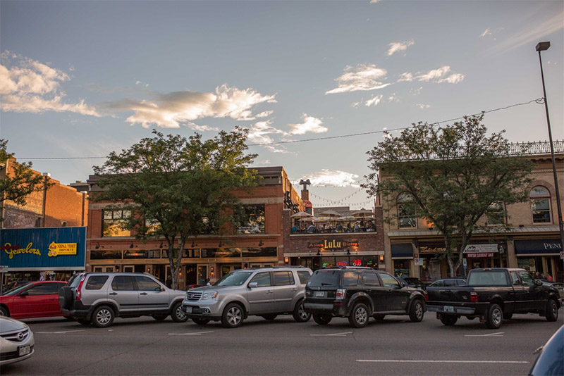 Downtown Fort Collins skyline
