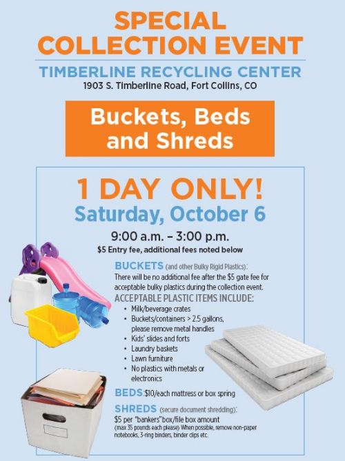 Special Collection Event at the Timberline Recycling Center