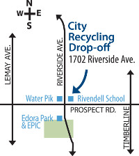 Recycling Drop Off Map