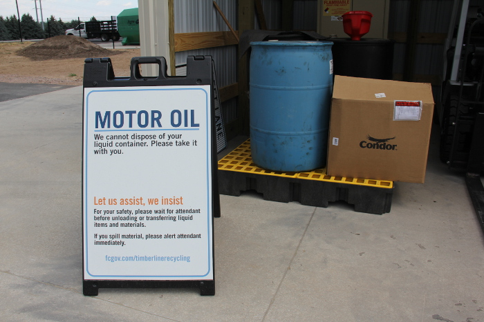 Timberline recycling center city of fort collins for How to recycle used motor oil