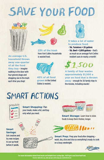 Save your food infographic