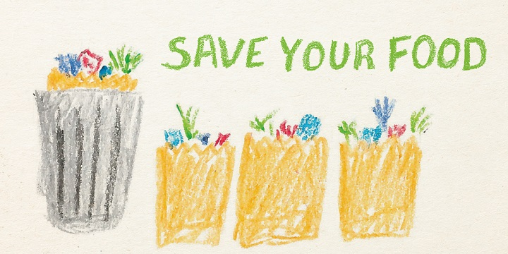 Save your food drawing