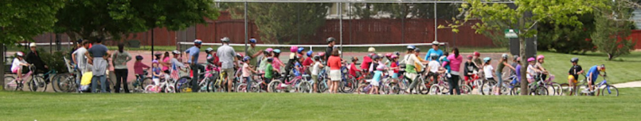 Kruse Elementary students take a ride down the Power Trail on Kruse Bike Day