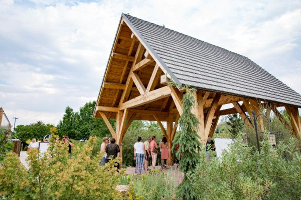 outdoor pavilion at Gardens on Spring Creek