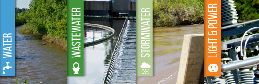 water, wastewater, stormwater, light and power