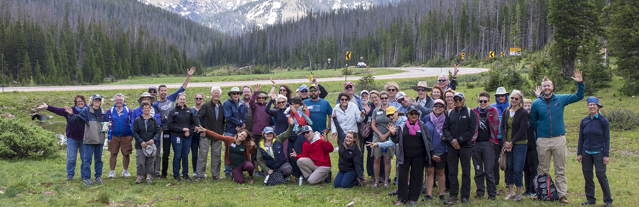 Group photo from a Watershed Bus Tour