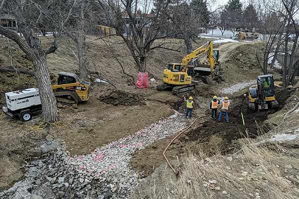 Construction on Mail Creek Stream Rehabilitation Project