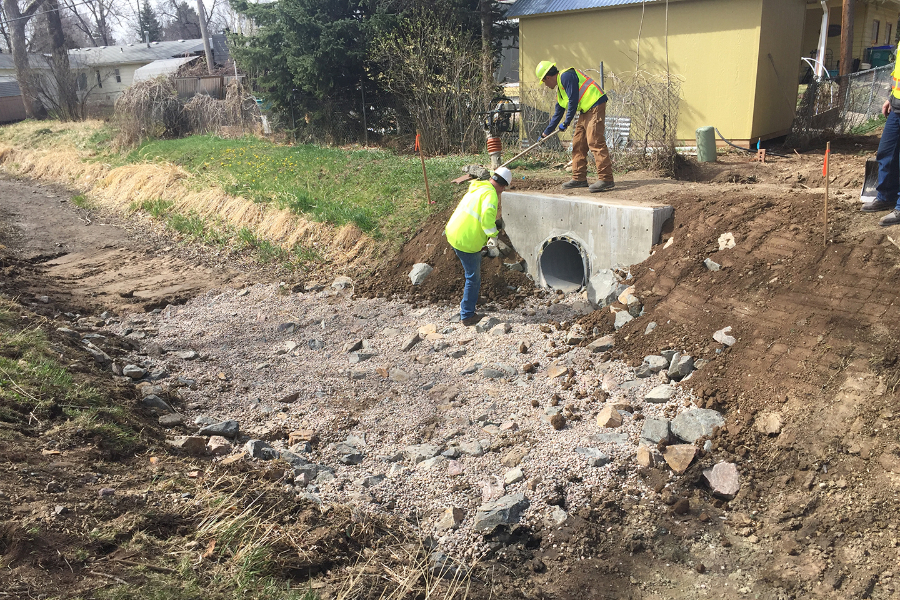 Construction on the Skyline Storm Sewer Project