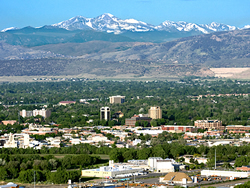 Aerial shot of Fort Collins