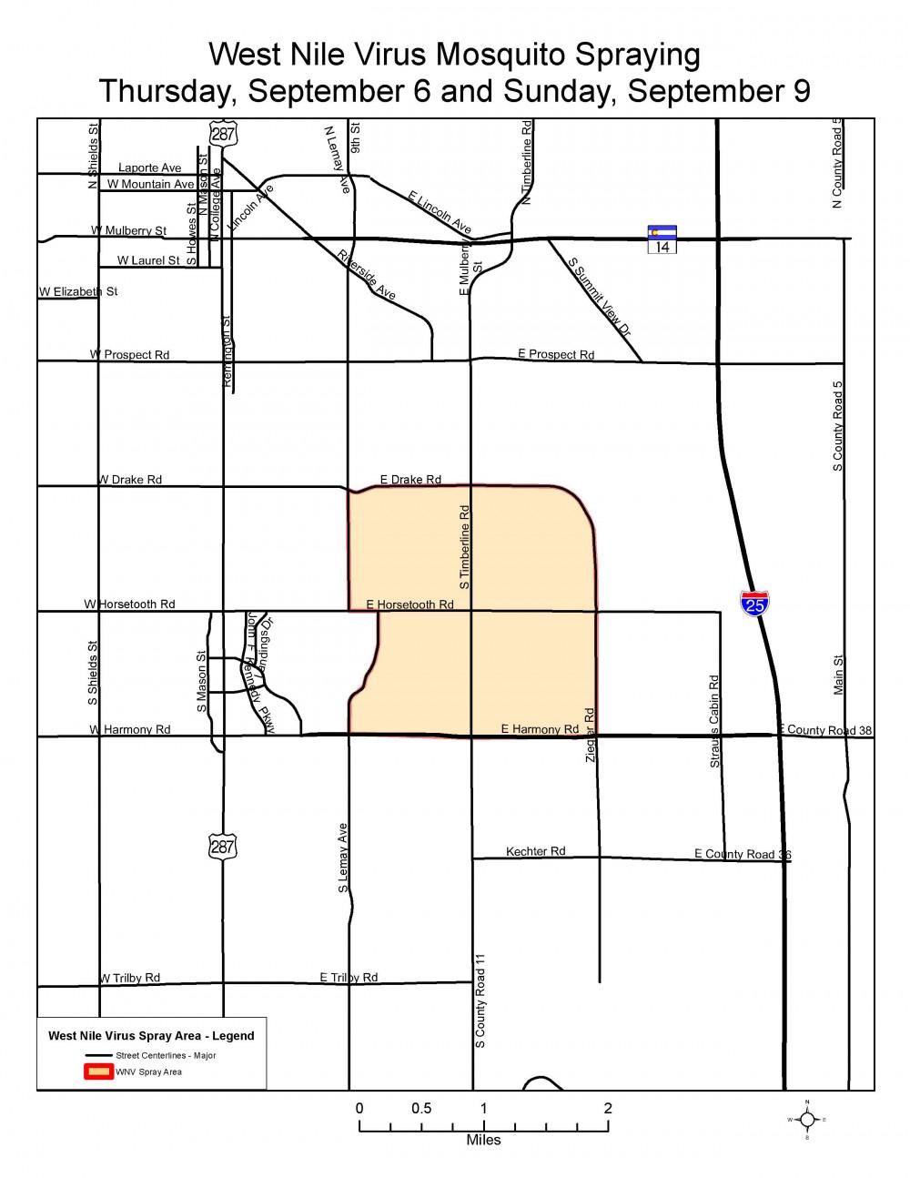 El Map de la fumigación este jueves y domingo.